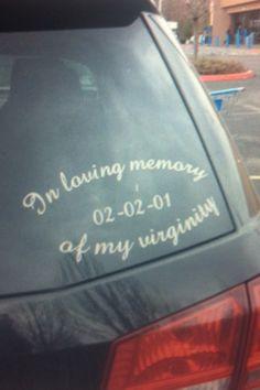 i find this 10 times funnier cuz its on a mini van!