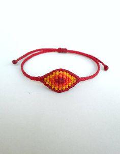 Evil eye macrame Earthy bracelet Surfer bracelet Bohemian