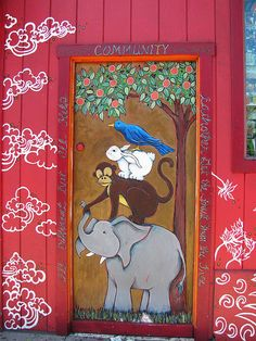 Door Painting in the Haight, San Francisco