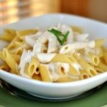 Creamy Garlic Alfredo Sauce (sub cream cheese out with 3x as much yogurt for a tangy, healthier sauce!)
