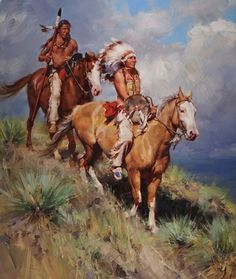 Return of Red Cloud Indians on Horses Wrapped Canvas Giclee Wall Art Native American Paintings, Native American Pictures, Indian Paintings, Native American Warrior, Native American History, Westerns, West Art, Ecole Art, Cowboy Art