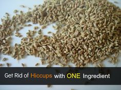 Get Rid of Hiccups with One Ingredient - Wholistic Bite } chew carom seeds (ajwain)