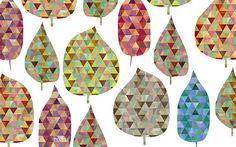 repeated triangle leaf shapes