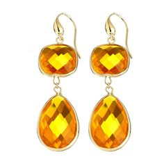 Andara Cognac Dangling Candy Earrings ($65) ❤ liked on Polyvore