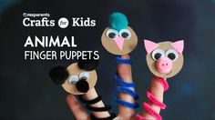 DIY Animal Finger Puppets   Crafts for Kids   PBS Parents