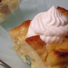 Slow cooker tres leches challah bread pudding