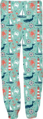 Nautical Aqua pants from Print All Over Me