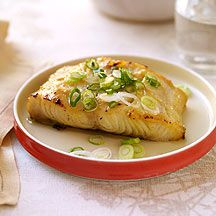 Miso-Glazed Cod - A traditional Japanese recipe that's a breeze to make. It's delicious served over rice, garnished with fresh cilantro. - WW 5pts