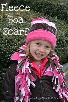 Come Together Kids: Fleece Boa Scarves