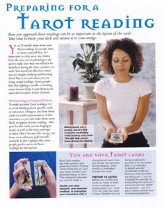 Mind, Body, Spirit Collection - Preparing For A Tarot Reading