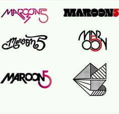 Awesome Maroon 5 logos! I love the one on the bottom right. They all use different types of fonts including serif, san-serif, script and decorative.