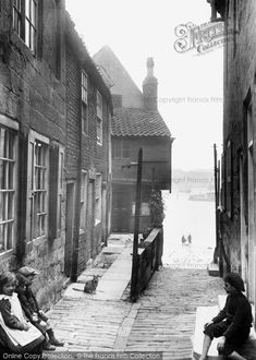 Photo of Whitby, Tin Ghaut from Francis Frith Victorian Photos, Antique Photos, Vintage Photos, Yorkshire England, Whitby England, North Yorkshire, Old Pictures, Old Photos, Whitby Abbey