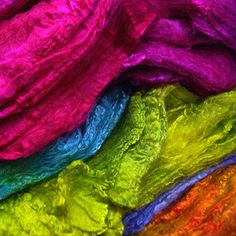 Silk Hankies dyed with Acid dyes