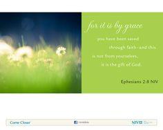 Ephesians 2:8 NIV Bible Verse About Faith #NIVBible