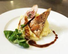 Denné menu Vranov |  Morčacie prsia špikované šalviou a Prosciuttom, zelerové pyré - reštaurácia Hotel Patriot*** #hotel #restaurant #food #lunch