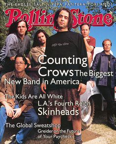 Counting Crows ~ June 1994 Nothin wrong with counting crows :) had this up on my wall as a teen Good Music, My Music, Music Stuff, Rolling Stone Magazine Cover, Baby Crows, Rollin Stones, My Magazine, Magazine Covers, Counting Crows