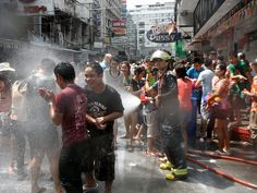 Bangkok, Thailand during Songkran - places I've been covered in chalk and drenched by thais