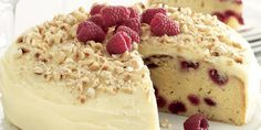 Recipe for White chocolate and raspberry mud cake