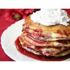 Raspberry Sour Cream Pancake