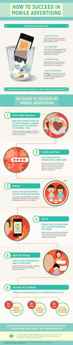 """Thinking about expanding your strategy to mobile? Learn the Dos and Don'ts of creating successful mobile campaigns in our latest infographic """"How to Succeed in Mobile Advertising in 2013""""."""