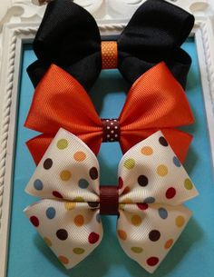 Fall hairbow set $7.00