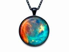 Universo collana di NEBULOSA di Orione gioielli di ciondolo collana universo galassia spazio esaurito lo spazio per gli uomini per le donne per lui per il suo speciale gift1