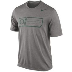 Nike Oregon Ducks 2014 Football Sideline Training Day Legend Dri-FIT Performance T-Shirt - Gray
