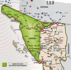 Map Of Sonora Mexico Officially Named The Free And Sovereign State