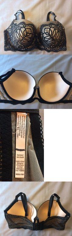 Bras and Bra Sets 63853: 36 Dd Black Solid Lace Victoria S Secret Dream Angels Demi Uw Bra -> BUY IT NOW ONLY: $33.99 on eBay!