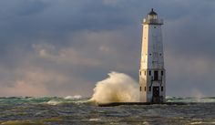 Mr. Brightside, photo by Aaron Springer The Frankfort North Pier Head Light marks the entrance to Betsie Lake. It's a popular fishing spot, but on Friday afternoon as UpNorthLive reports, a f…