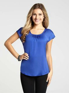 Conrad C Ruched Neck Blouse