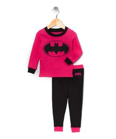 Another great find on #zulily! Hot Pink Batgirl Pajama Set - Toddler by Batgirl #zulilyfinds