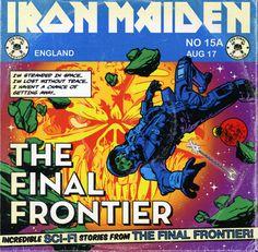 Portada Iron Maiden satellite 15... the final frontier