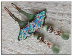 Bohemian earrings-hippie  Ginkgo leaf  image on by rareetsens