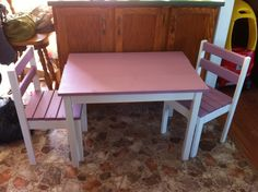 DIY kids table and chairs! Perfect day project.. $35