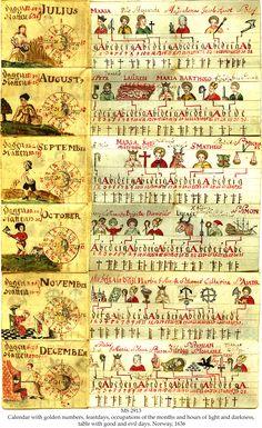 Norwegian Girdle Calendar The Schøyen Collection, MS 2913, Oslo and London