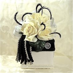 wedding favor box ideas for black and white wedding