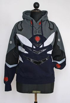 This hoodie is inspired by Kaworus plugsuit from Rebuild of Evangelion:its a 100% handmade Italian product!    It's a 60%cotton and 40%