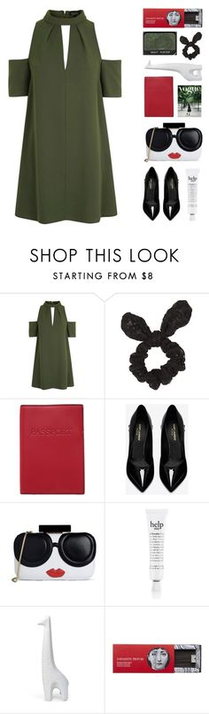 """Can I be her?"" by tiaranurindaa ❤ liked on Polyvore featuring Topshop, Lodis, Yves Saint Laurent, Alice + Olivia, NARS Cosmetics, philosophy, Jonathan Adler and Fornasetti"