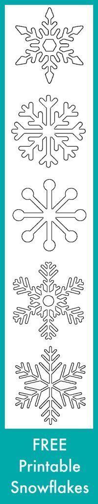 Free Printable Snowflakes #typeaparent: