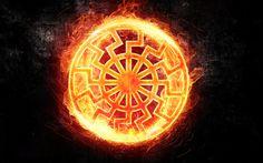 Black sun symbol wallpaper