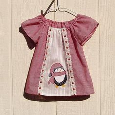 Penguin Applique Peasant Dress 12 Months by ArtsyCrafty for $22.00