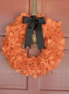 We need a pretty wreath! Cassie & Co.: Fall Rag Wreath Tutorial