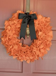 We need a pretty wreath! Cassie & Co.: Fall Rag Wreath Tutorial