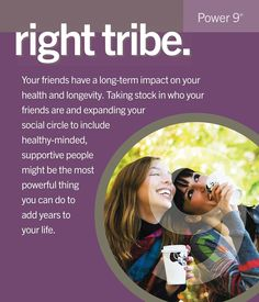 """Right Tribe The world's longest lived people chose–or were born into–social circles that supported healthy behaviors, Okinawans created """"moais""""–groups of five friends that committed to each other for life. Research from the Framingham Studies shows that smoking, obesity, happiness, and even loneliness are contagious. So the social networks of long-lived people have favorably shaped their health behaviors."""