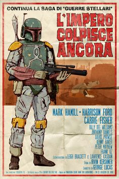 And more spaghetti-western style Star Wars art, featuring Boba Fett.