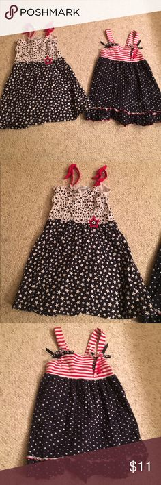 2 baby girl 24 months 4th of July dresses 2 baby girl 24 months 4th of July dresses in nice condition bundle # 198 Dresses Casual
