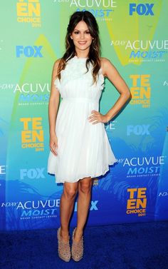 Rachel Bilson wearing Chloe Resort 2012 Silk Dress Modified and Brian Atwood Cohen Borchie Boots.