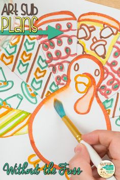 Thanksgiving art projects for kids tend to be a lot of the same ol', same ol'. Tissue paper rolls dressed up with construction paper turkey feathers. This Thanksgiving project is a fresh take on a turkey in disguise, but with a secret twist. Come see! | G