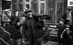 Chimney Sweep, November 7, 1931    The chimney sweep shown here is Councillor Tom Brooks, who continued to sweep chimneys while mayor of Bethnal Green. The Brooks family had a substantial chimney sweeping business working all over London and Tom, who lived in Brick Lane for 40 years, combined this with serving as a councillor for 28 years and as mayor three times. As a supporter of the temperance movement, he was responsible for moving the Sunday market from the northern end of Brick Lane.
